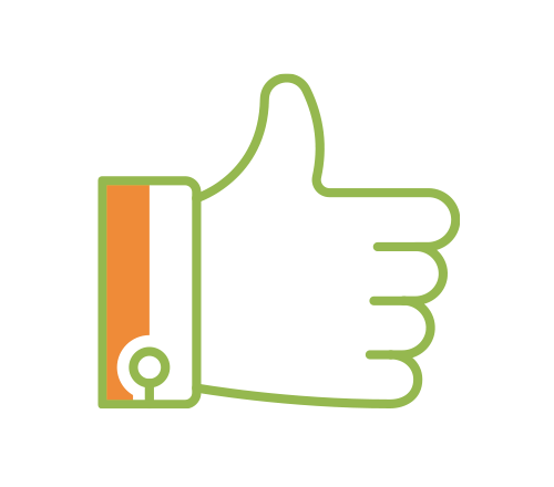 Icon of a thumb up