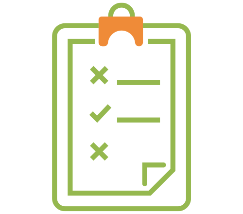 Icon of a to do list