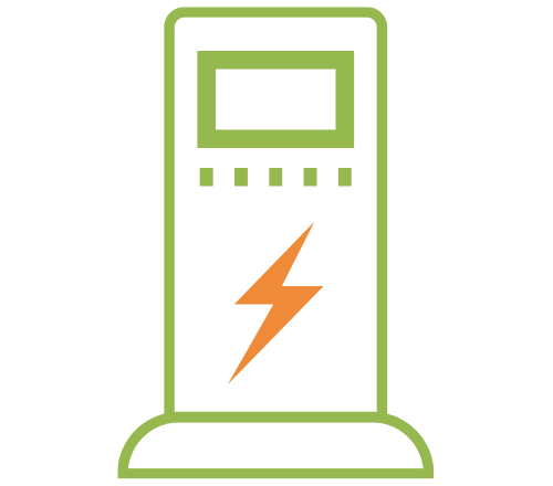 Icon of an Electric Car Charger